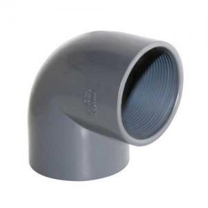 UH-PVC Колено 90º с внутренней резьбой