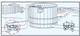 Поплавковый клапан регулирования уровня жидкости DRF 10